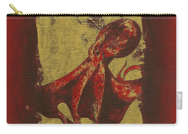 Spotted Red Octopus Carry-all Pouch