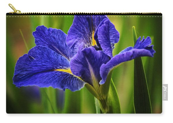 Spring Blue Iris Carry-all Pouch