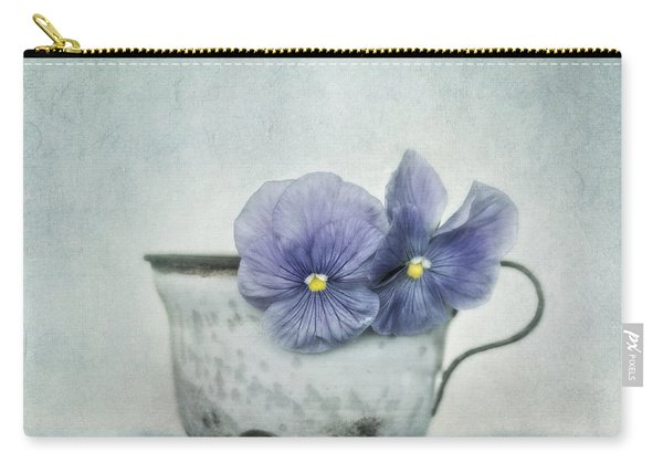 Spring Blues With A Hint Of Yellow Carry-all Pouch