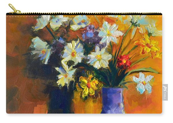 Spring Flowers In A Vase Carry-all Pouch