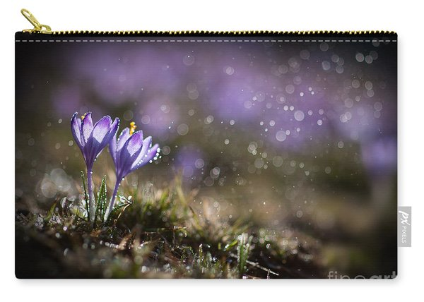 Carry-all Pouch featuring the photograph Spring Impression I by Jaroslaw Blaminsky