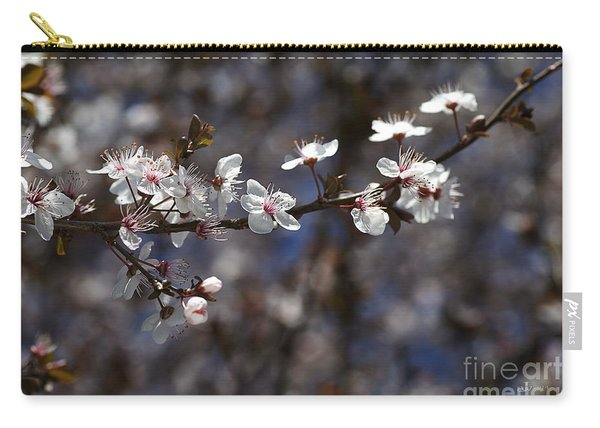 Spring White Blossom Carry-all Pouch