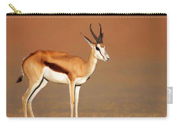 Springbok On Sandy Desert Plains Carry-all Pouch