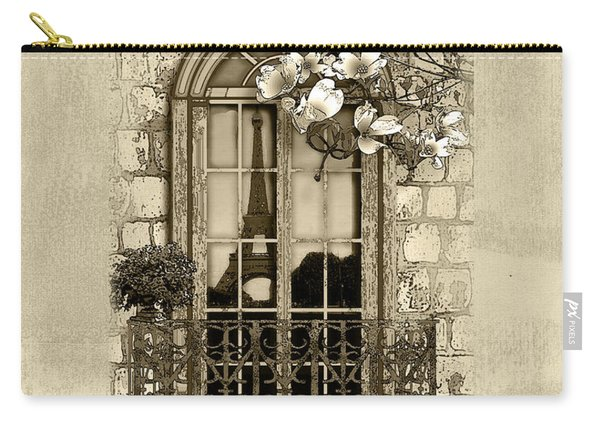 Springtime In Paris In Sepia Carry-all Pouch