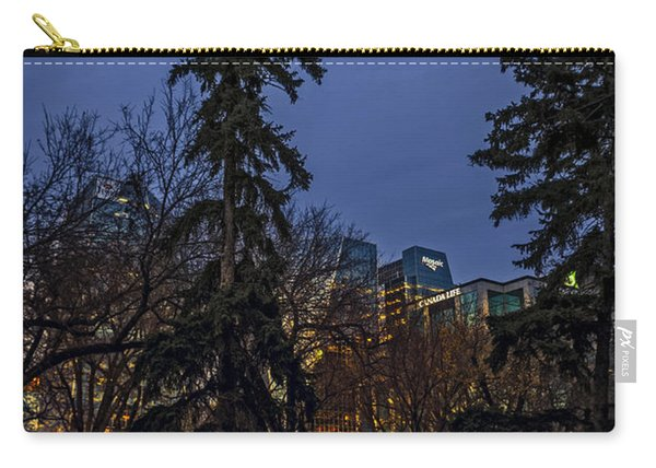 Spruce Tree At The Square Carry-all Pouch
