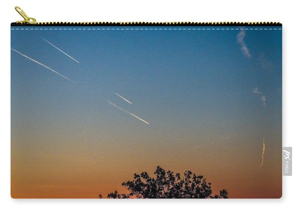 Squadron Of Jet Trails Over Ireland Carry-all Pouch