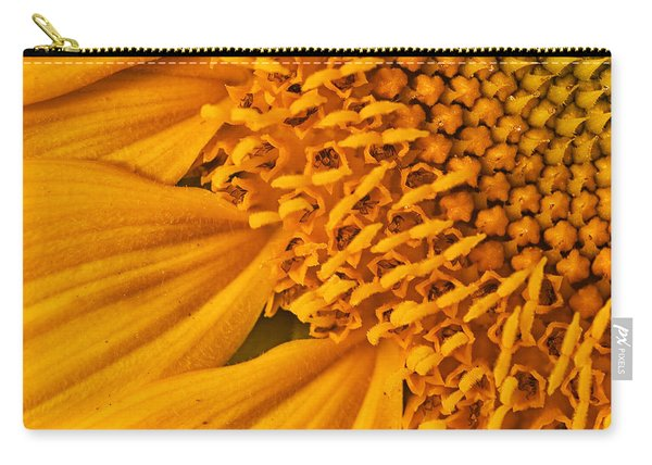Square Sunflower Carry-all Pouch