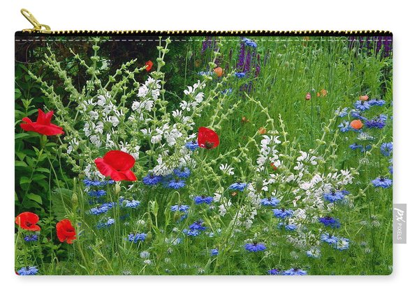Squarely Spring Floral Garden Carry-all Pouch