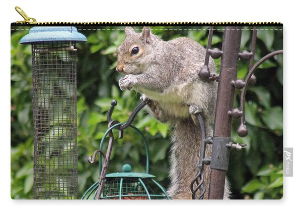 Squirrel Eating Nuts Carry-all Pouch