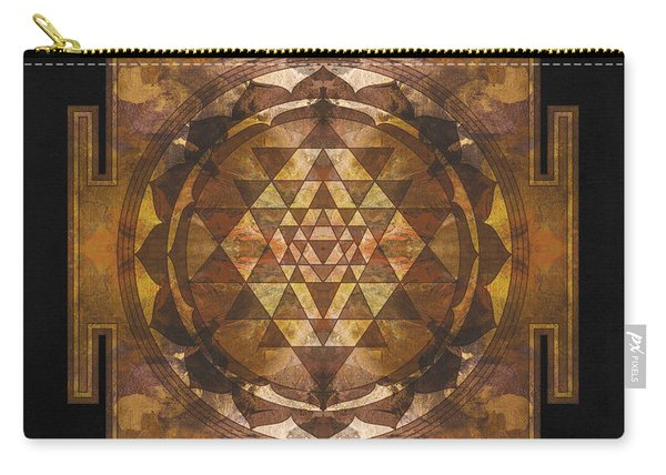 Sri Yantra Gold Carry-all Pouch
