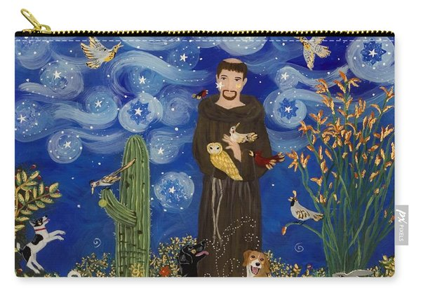 St. Francis Starry Night Carry-all Pouch