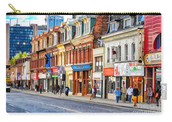 Yonge Street In Toronto Carry-all Pouch