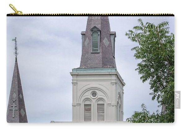 St. Louis Cathedral Through Trees Carry-all Pouch