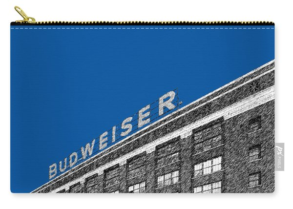 St Louis Skyline Budweiser Brewery - Royal Blue Carry-all Pouch