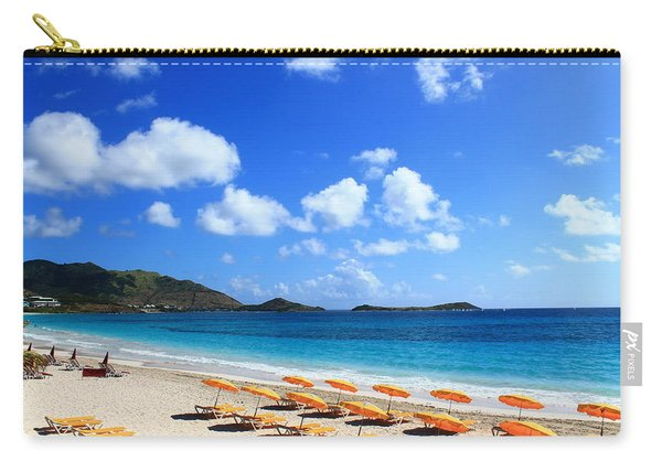 St. Maarten Calm Sea Carry-all Pouch