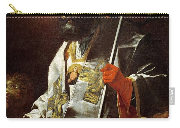St. Nicholas Of Bari D.c.346 Oil On Canvas Carry-all Pouch