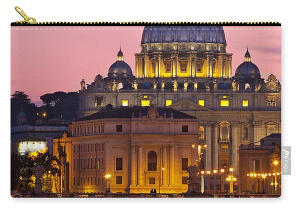 Carry-all Pouch featuring the photograph St Peters Basilica by Brian Jannsen