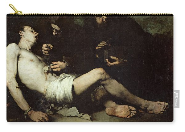 St Sebastian, Martyred Oil On Canvas Carry-all Pouch
