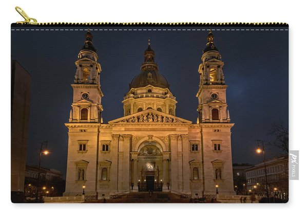 St Stephen's Basilica Budapest Night Carry-all Pouch