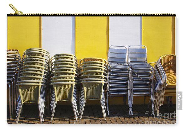 Stacks Of Chairs And Tables Carry-all Pouch