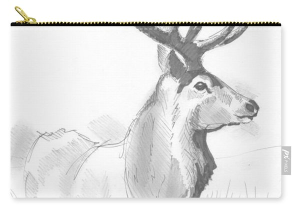 Stag Drawing Carry-all Pouch