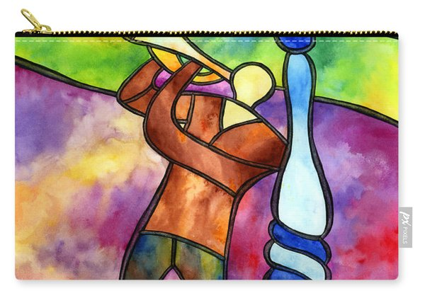 Stained Glass Jazzman Carry-all Pouch