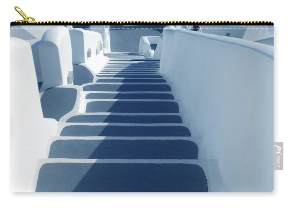 Stairs Down To Ocean Santorini Carry-all Pouch
