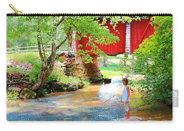 Standing By The River At Campbell's Bridge Carry-all Pouch