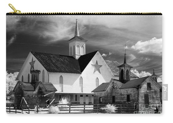 Star Barn Complex In Infrared Carry-all Pouch