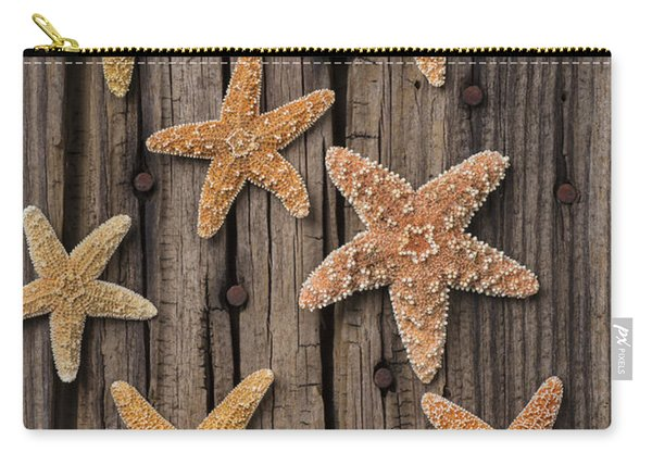 Starfish On Old Wood Carry-all Pouch