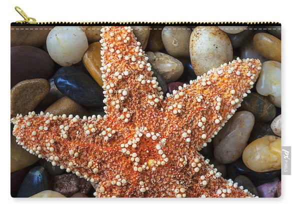 Starfish On Rocks Carry-all Pouch