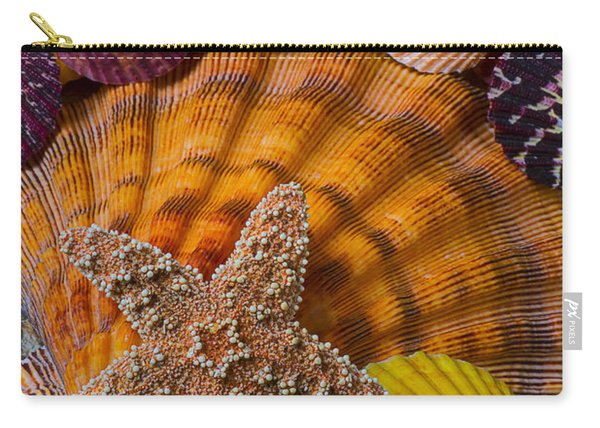 Starfish With Seashells Carry-all Pouch