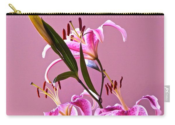 Stargazer Lilies Square Frame Carry-all Pouch