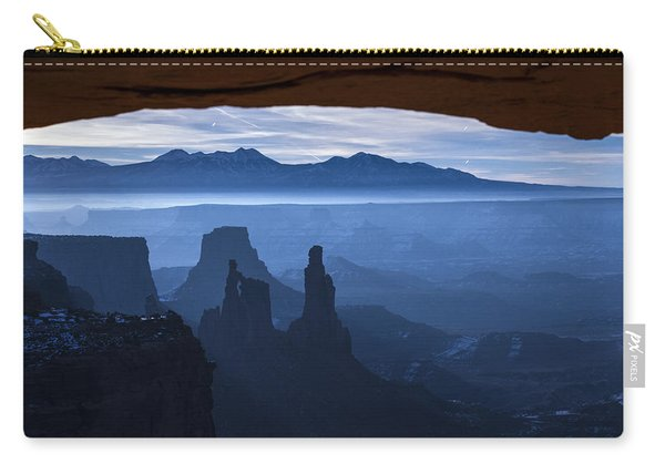 Carry-all Pouch featuring the photograph Starlit Mesa  by Dustin  LeFevre