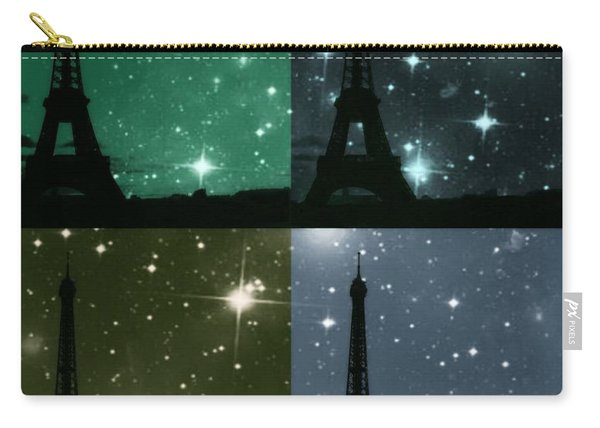 Starry Night - Eiifel Tower Paris Carry-all Pouch