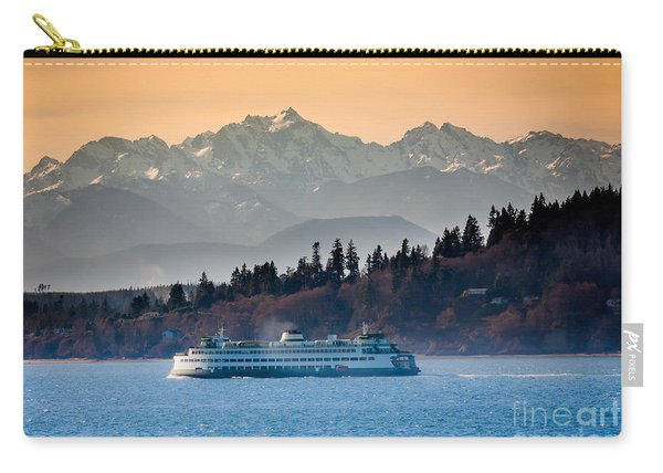 State Ferry And The Olympics Carry-all Pouch
