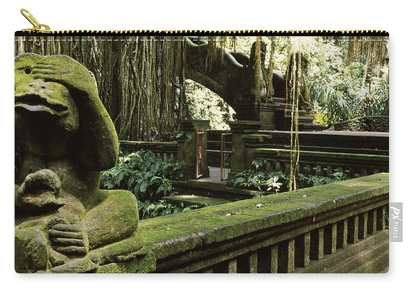 Statue Of A Monkey In A Temple, Bathing Carry-all Pouch