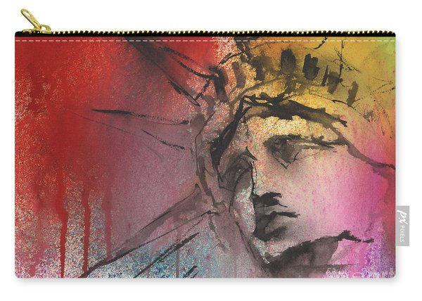 Statue Of Liberty New York Painting Carry-all Pouch