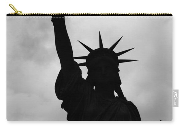 Statue Of Liberty Silhouette Carry-all Pouch