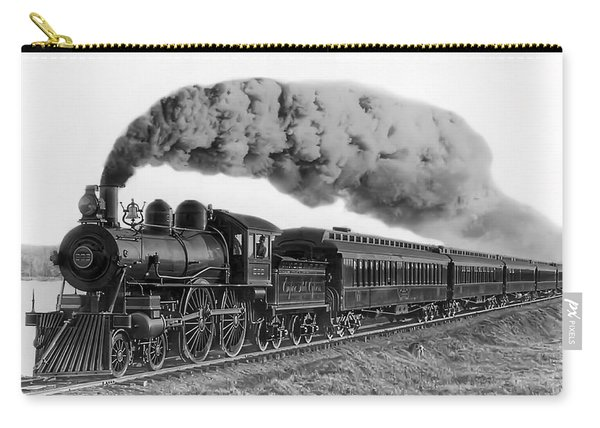 Steam Locomotive No. 999 - C. 1893 Carry-all Pouch