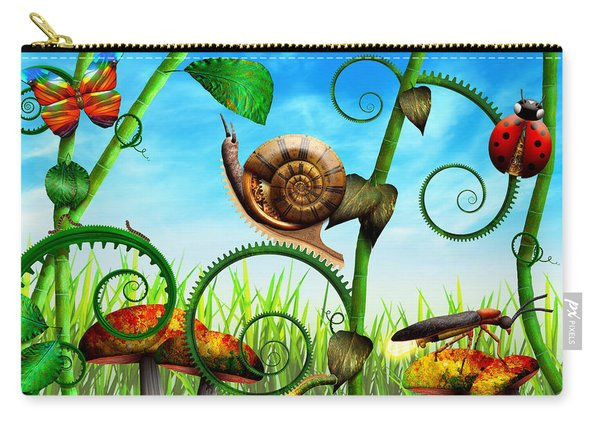 Steampunk - Bugs - Evolution Take Time Carry-all Pouch