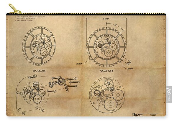 Steampunk Solar Disk Carry-all Pouch