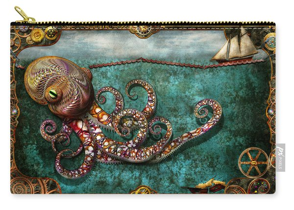 Steampunk - The Tale Of The Kraken Carry-all Pouch