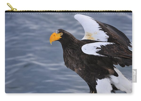 Stellers Sea Eagle Taking Flight Carry-all Pouch