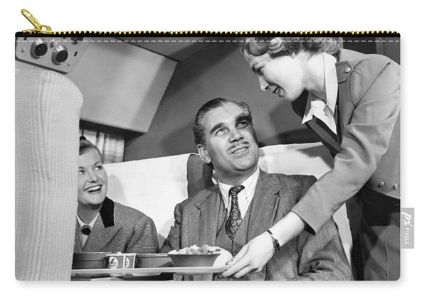 Stewardess Serving Food Carry-all Pouch