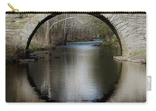 Stone Arch Bridge - Craquelure Texture Carry-all Pouch