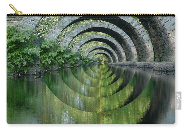 Stone Arch Bridge Over Troubled Waters - 1st Place Winner Faa Optical Illusions 2-26-2012 Carry-all Pouch