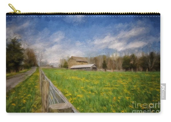 Stone Barn On A Spring Morning Carry-all Pouch