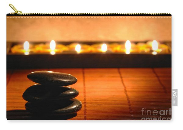 Stone Cairn And Candles For Quiet Meditation Carry-all Pouch