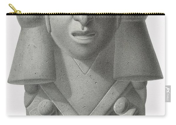 Stone Idol Of The Rain God Cocijo Carry-all Pouch